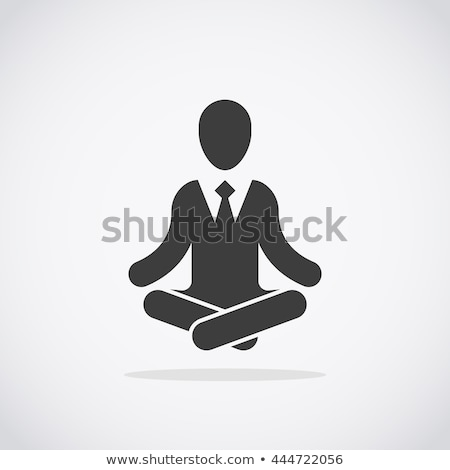 Businessman meditates with enlightenment concept Stock photo © ra2studio