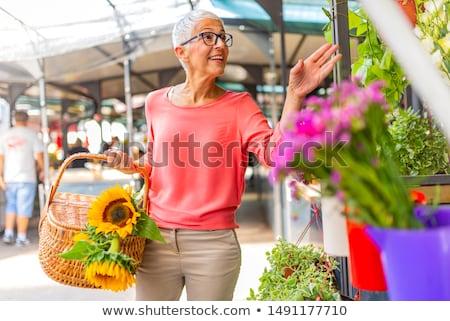 színes · virágok · virágüzlet · piac · üzlet · természet - stock fotó © boggy