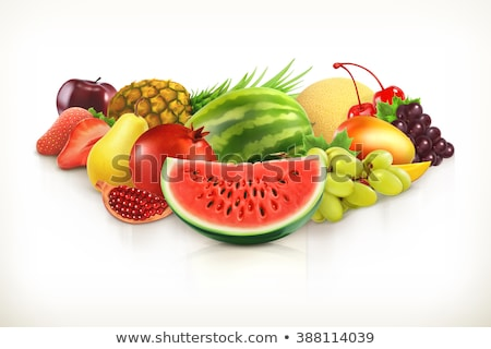 гранат Cut свежие сочный фрукты изолированный Сток-фото © MaryValery