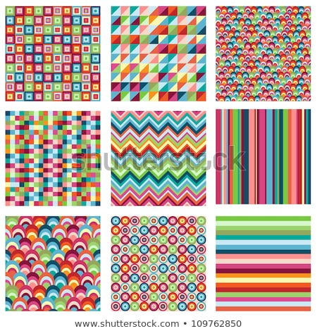 tags colorful seamless patterns with fabric texture stock photo © lemony