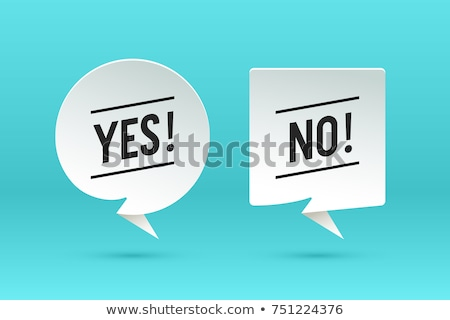 Stock photo: No. Paper bubble cloud talk and message No