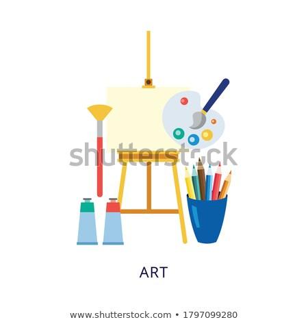студент искусства колледжей рисунок мольберт вектора Сток-фото © pikepicture