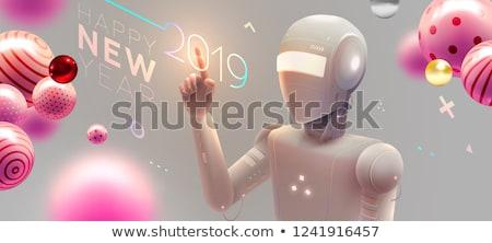 Robot nieuwe technologie poster kunstmatig opschrift Stockfoto © robuart