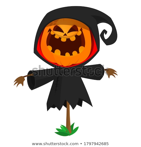 Angry Cartoon Scarecrow Stock photo © cthoman