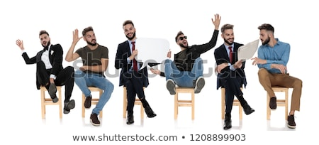 poses of the same young man expressing different moods Stock photo © feedough