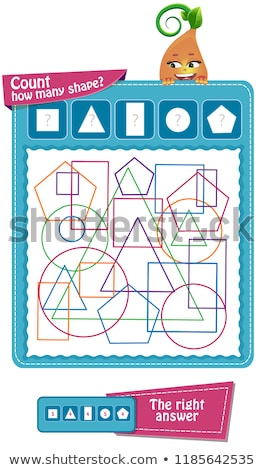 How many  shapes count  game Stock photo © Olena