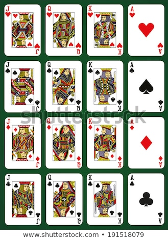 ポーカー · トランプ · フル · デッキ · 緑 · 別 - ストックフォト © krisdog