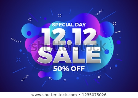 Mega Discount and Offer Poster Vector Illustration Stock photo © robuart