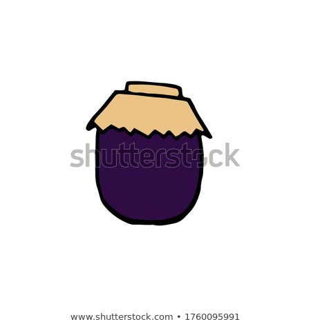 Preserved Food Posters Plums Vector Illustration Stock photo © robuart