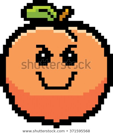 Angry 8-Bit Cartoon Peach Stock photo © cthoman