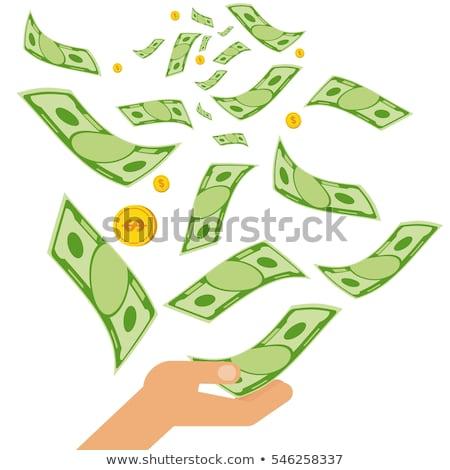 Hands Falling Money Illustration Stock photo © lenm