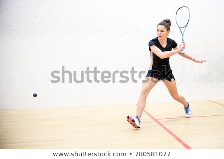 Squash players in action on a squash court Stock photo © lightpoet