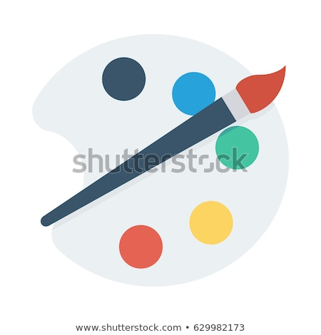 Painting Palette Flat Icon On White Background, vector illustration. Stock photo © kyryloff