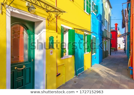Colorful houses of Venice Stock photo © Givaga