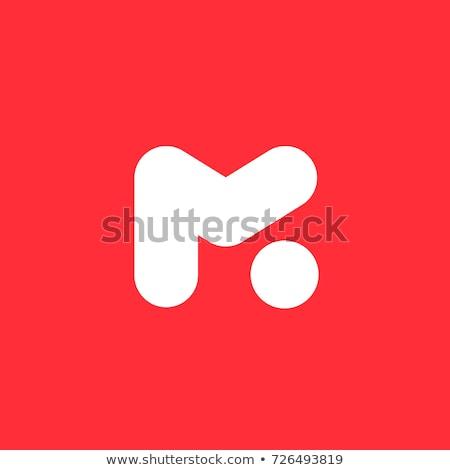 Mektup m logo imzalamak vektör Stok fotoğraf © blaskorizov