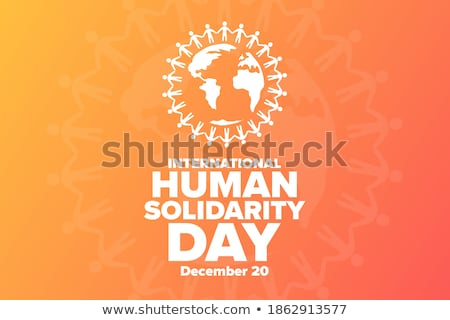 Human Solidarity Day hands of diverse world Stock photo © cienpies