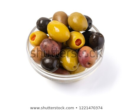 Pickled kalamata olive, paths Stock photo © maxsol7