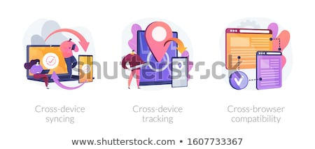 Navegador windows pc comprimido compatível branco Foto stock © RAStudio