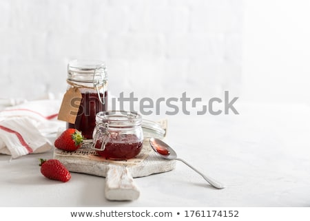 Preserved Healthy Food in Jars Banner with Text Stock photo © robuart
