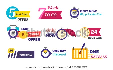 Only One Week Big Sale Set Vector Illustration Stock photo © robuart