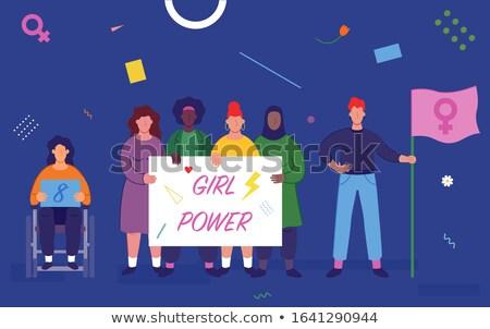 girl power website banners stock photo © anna_leni