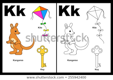 K is for educational game coloring book Stock photo © izakowski