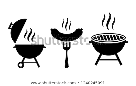 BBQ Barbecue Grate and Meat Vector Illustration Stock photo © robuart
