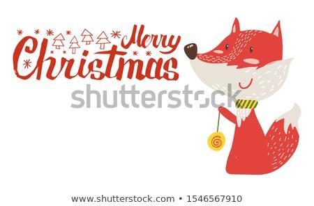 Рождества · белый · дерево · дизайна · линия - Сток-фото © robuart