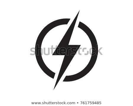 Thunder логотип икона вектора символ знак Сток-фото © blaskorizov