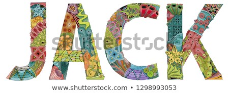 male name jack vector decorative zentangle object stock photo © natalia_1947