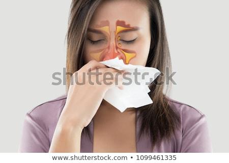 menselijke · congestie · koud · griep · hoesten · virus - stockfoto © eddows_arunothai