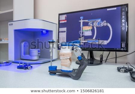Dental procedure, prosthetic works Stock photo © simazoran