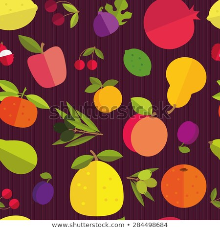 Papaya fruit seamless pattern on purple background Stock photo © xamtiw