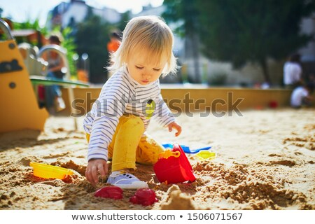 vector · ontspanning · activiteit · kind · speeltuin · zandkasteel - stockfoto © colematt