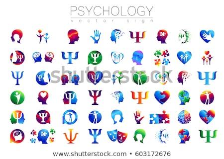 Psychologist - modern line design style colorful illustration Stock photo © Decorwithme