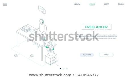 Stockfoto: Freelance · moderne · lijn · ontwerp · stijl · web