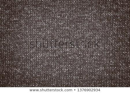 Tricotado marrom cachecol textura chocolate fundo Foto stock © marylooo