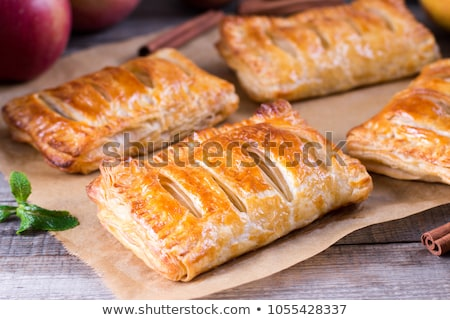 Delicious puff pastry with apple filling Stock photo © BarbaraNeveu
