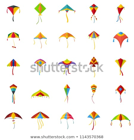 Flat design icon of kite  Stock photo © angelp