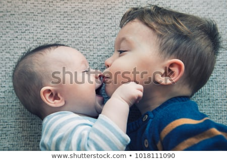 funny baby toddler boy at home stock photo © artfotodima