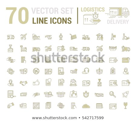 sea transport flat concept icons stock photo © netkov1