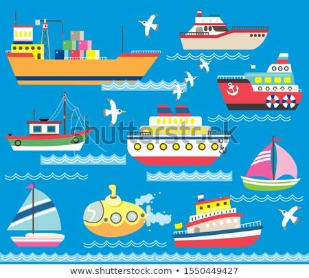 海 輸送 漫画 アイコン 船 eps ストックフォト © netkov1
