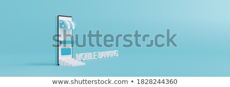 Cash deposit isometric 3D banner header. Stock photo © RAStudio