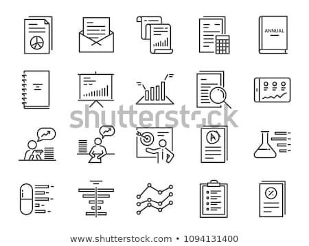 分析論 アイコン 薄い 行 デザイン データ ストックフォト © angelp