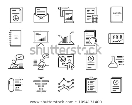 Analytics icône léger ligne design données Photo stock © angelp