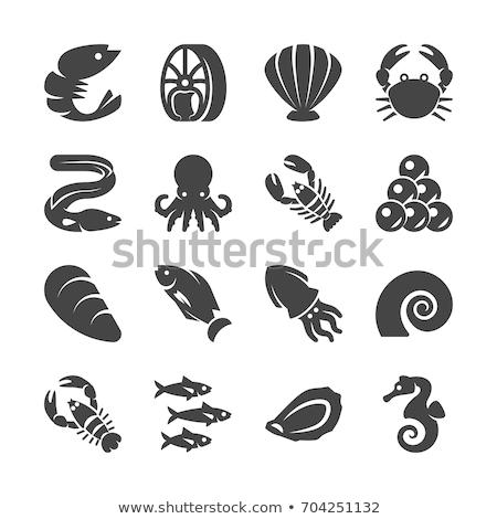 вектора набор омаров дизайна знак обеда Сток-фото © olllikeballoon