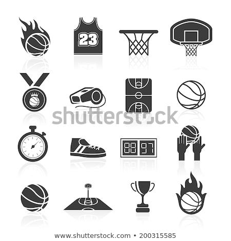 basketbalveld · isometrische · eigen · wereld · sport · bal - stockfoto © netkov1