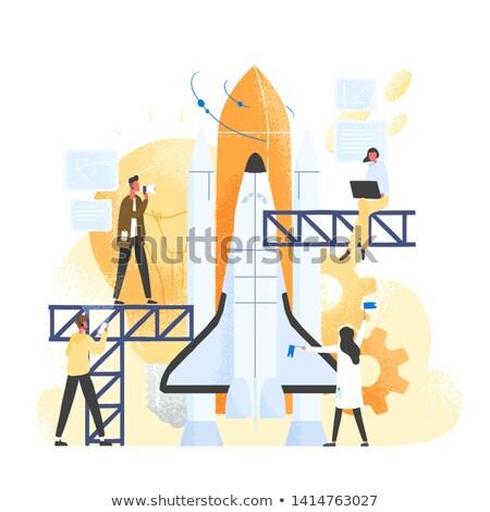 スタートアップ ロケット 人 宇宙船 新しい ビジネス ストックフォト © robuart