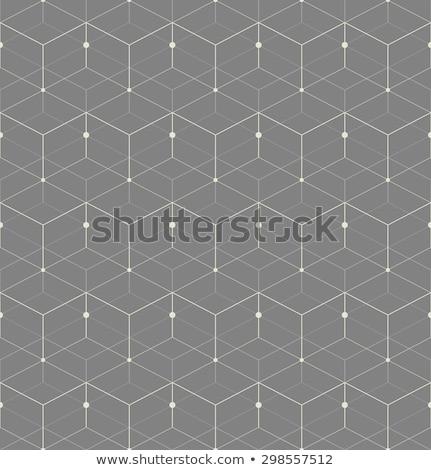 grijs · naadloos · vector · patroon · meetkundig · herhalen - stockfoto © yopixart