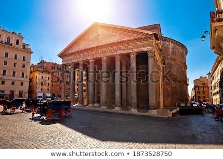 carré · fontaine · anciens · repère · ville · Rome - photo stock © xbrchx